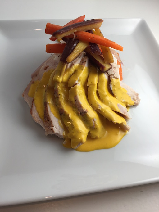 Sous Vide Chicken w/ Saffron Cream