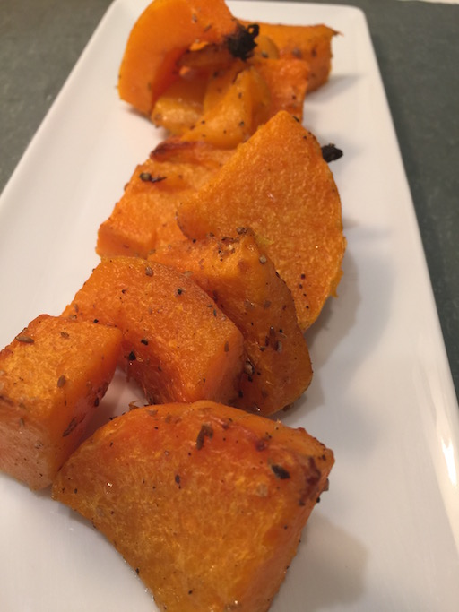 Roasted Spiced Butternut Squash w/ Coconut Oil